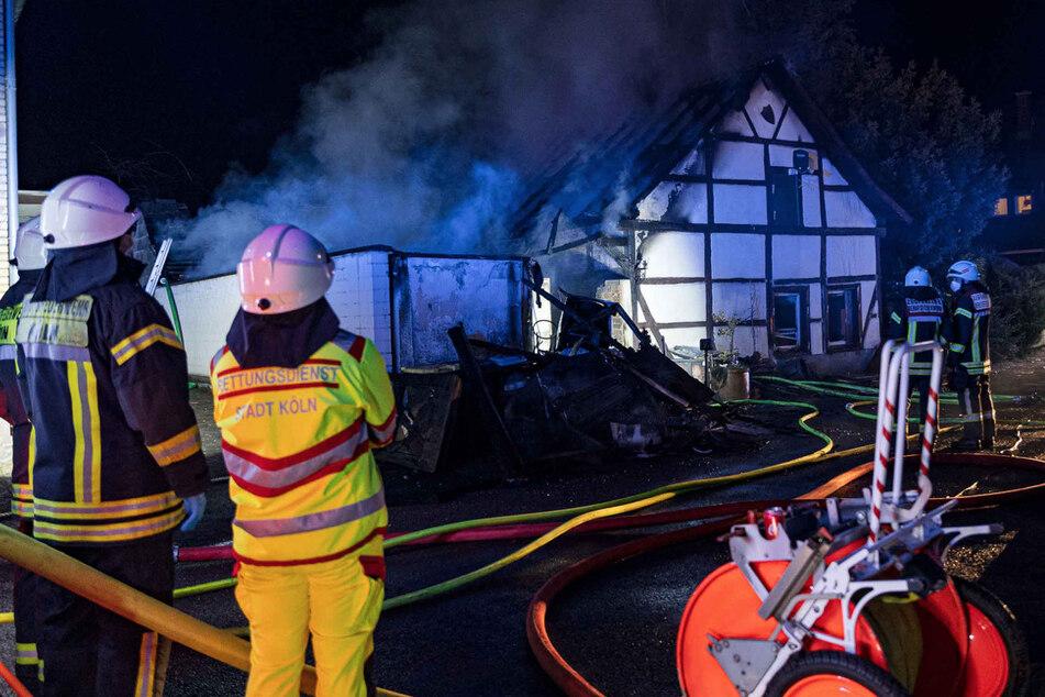 Das Fachwerkhaus konnte gelöscht werden, wurde aber ein Raub der Flammen.