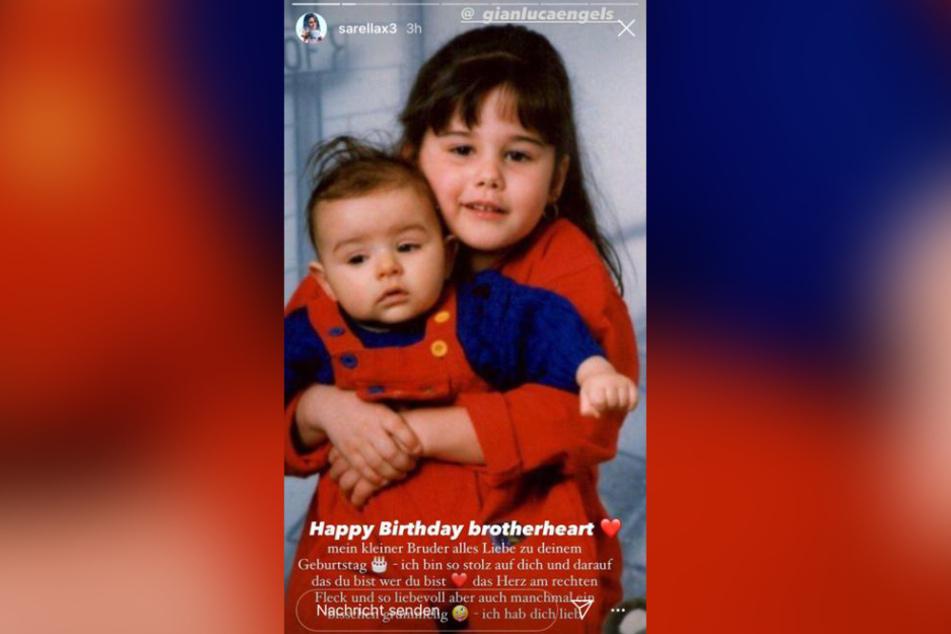 Jung und unschuldig! Dieses süße Kinderfoto hat Sängerin Sarah Lombardi (27) anlässlich des Geburtstags ihres Bruders Gianluca Engels geteilt.