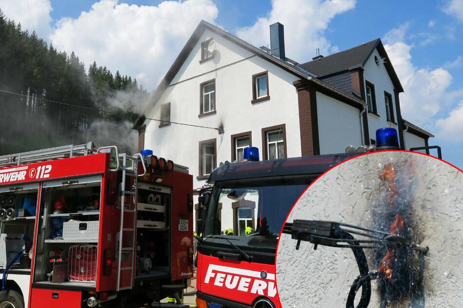 Stromanschluss durchgeschmort! Brand im Erzgebirge