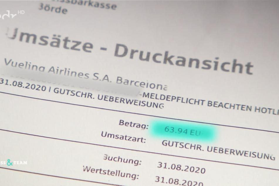 Ende August überwies die Airline der Familie eine Entschädigung – wofür genau, ist bis heute ein Rätsel.