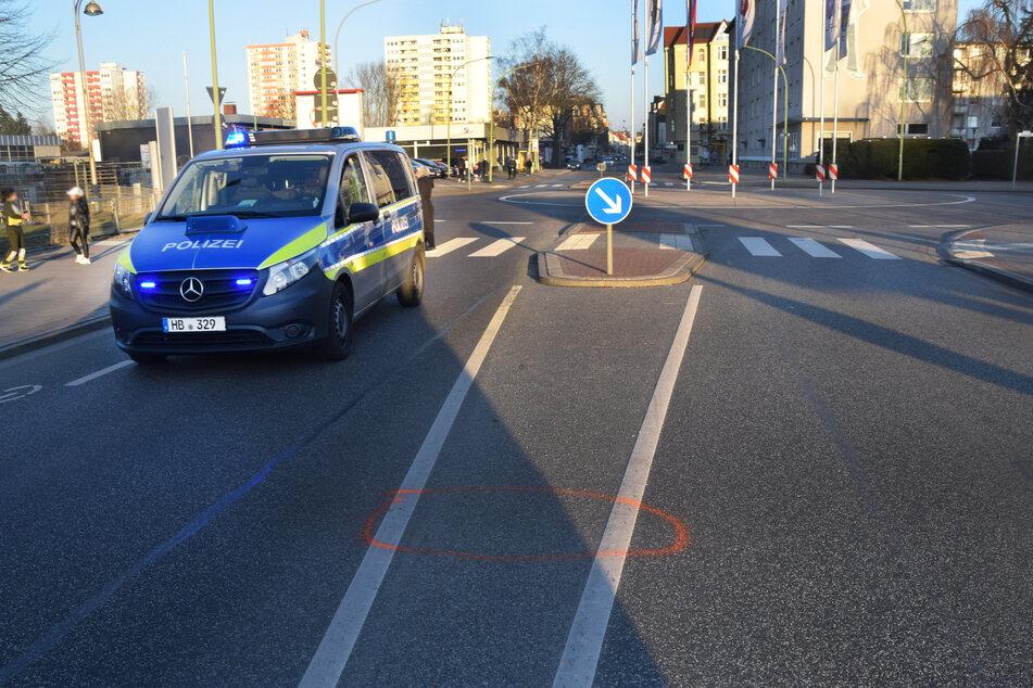 Die Unfallstelle in Bremerhaven.
