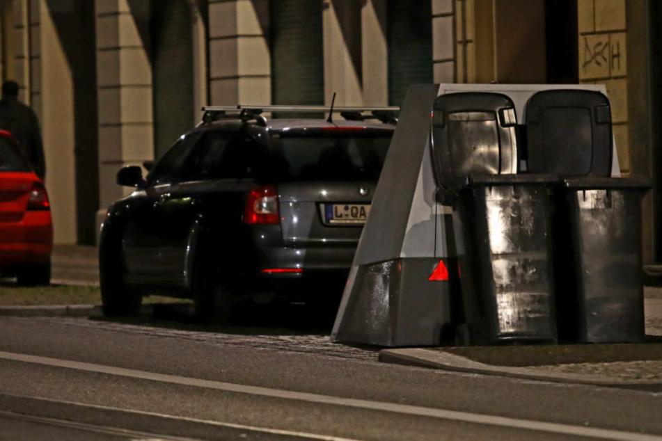Leipzig: Superblitzer in Leipzig: Diesmal verhindern diese Mülltonnen teure Tickets