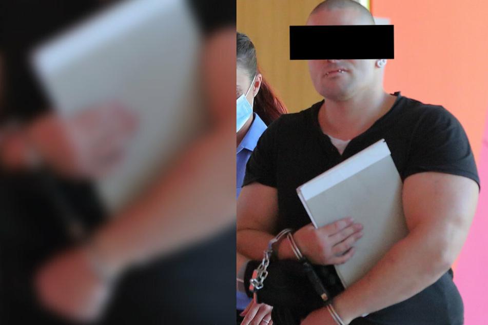 Auch vor Gericht kein Benehmen: Patrick R. (28) spuckte vor den Saal, als er in Handschellen zum Prozess gebracht wurde.