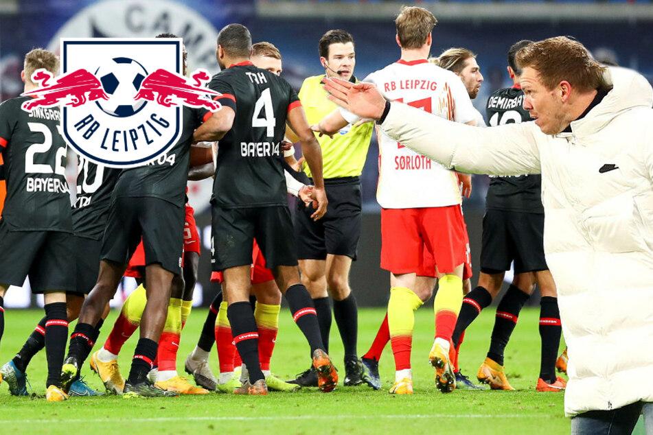 """RB Leipzigs Nagelsmann meckert gegen Schiri: """"'Ne klare Tätlichkeit, Mann!"""""""