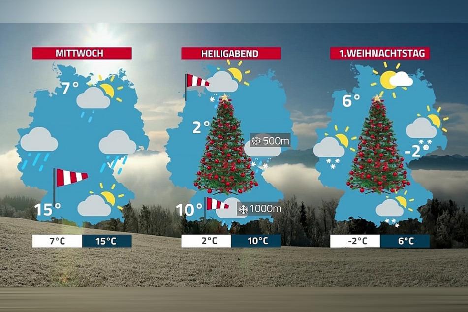 Vor allem in Sachsen wird es nach anfangs milden Temperaturen sehr kalt.
