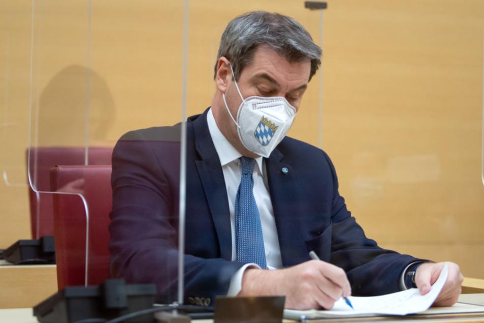 Corona-Sondersitzung im Landtag: Markus Söder begründet drastische Maßnahmen