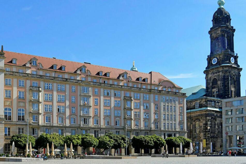 Der Altmarkt in Dresden wurde Schauplatz eines Erpressungsversuches.