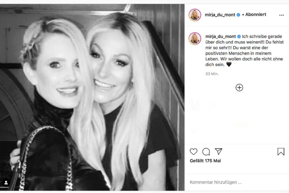 Mit diesem Post erinnert Mirja (l.) an ihre Freundin Simone.