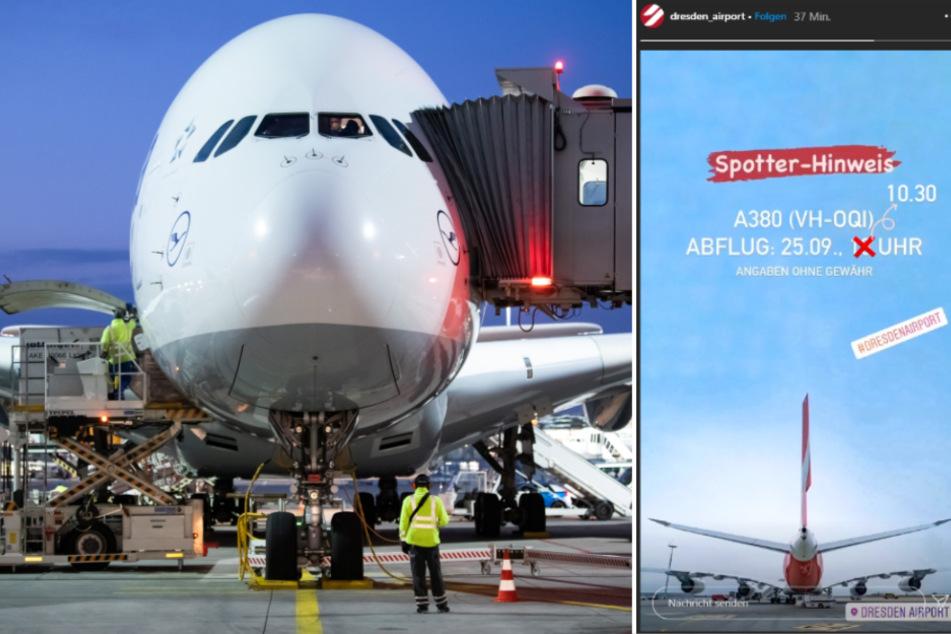 Dresden: Flugzeug-Fans aufgepasst: Airbus A380 hebt in Dresden ab