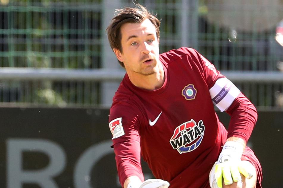 Seit vielen Jahren im Verein, vor Abstiegskampf schützt das nicht. Aues Torhüter und Kapitän Martin Männel (33).