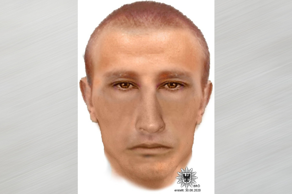 Die Polizei suchte zunächst mit diesem Phantombild nach dem mutmaßlichen Sextäter.