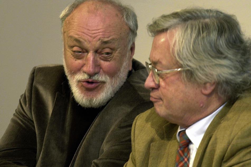 Matthus mit Kurt Masur (†88, l.) bei der Pressekonferenz vor der Uraufführung 2005.