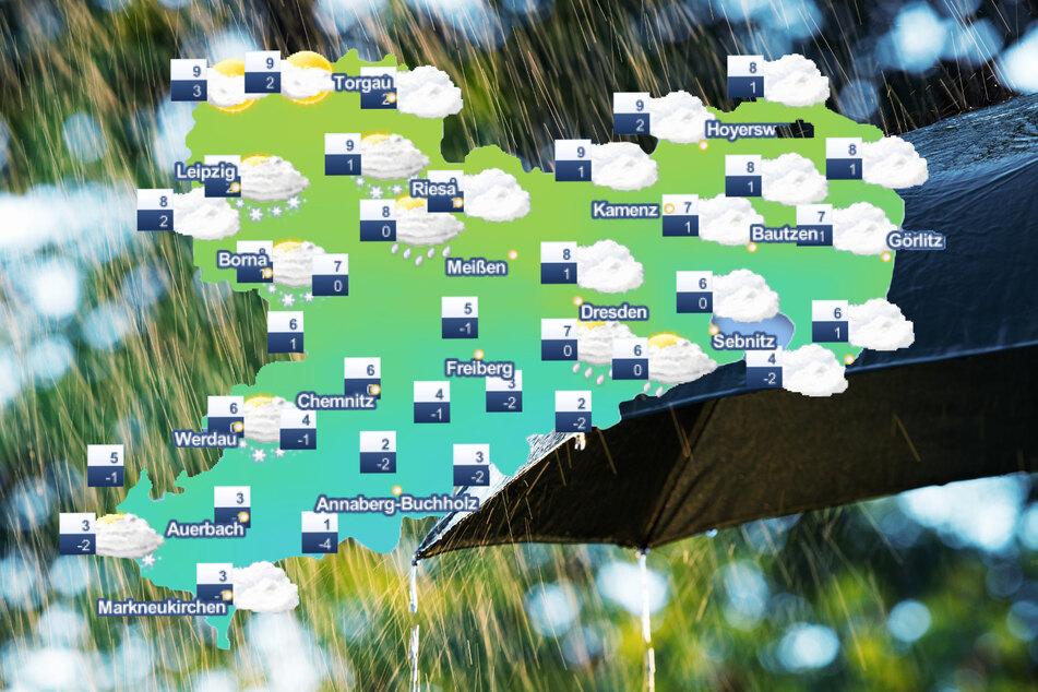 Am Wochenende bleibt es in Sachsen regnerisch.