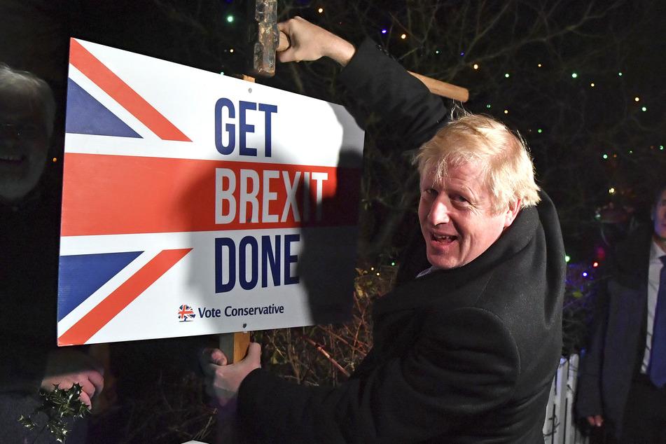 Der Brexit wurde zum großen Thema in Boris Johnson's Wahlkampf im Dezember 2019.