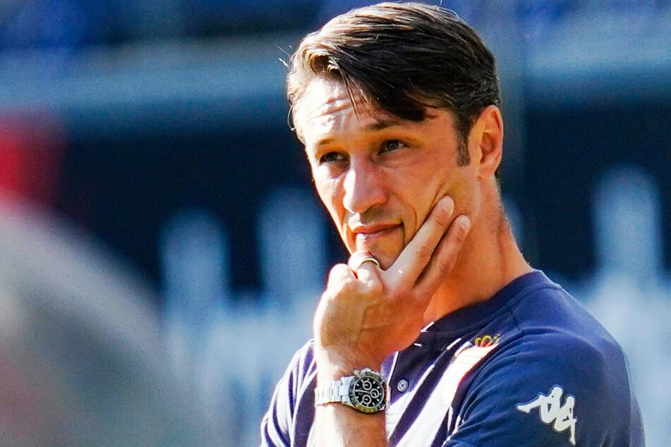 Monacos Coach Niko Kovac (49) erlebte die Qualitäten von Terem Moffi (21) hautnah mit: Der Lorient-Stürmer schoss in zwei Partien drei Treffer gegen die AS.