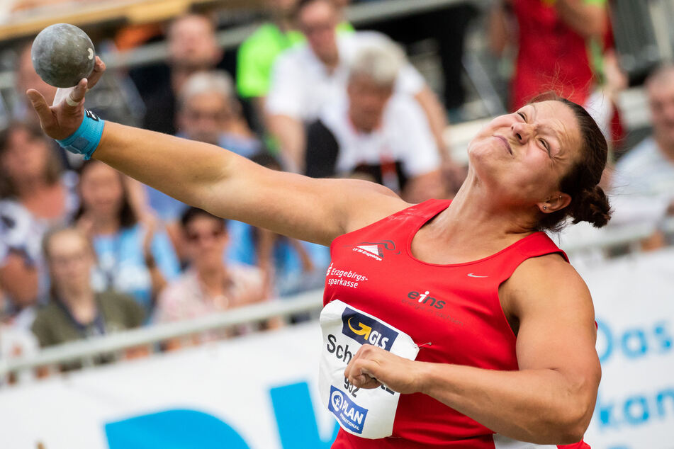 Wird nicht bei den Deutschen Meisterschaften der Leichtathleten teilnehmen: Kugelstoß-Weltmeisterin Christina Schwanitz (34).