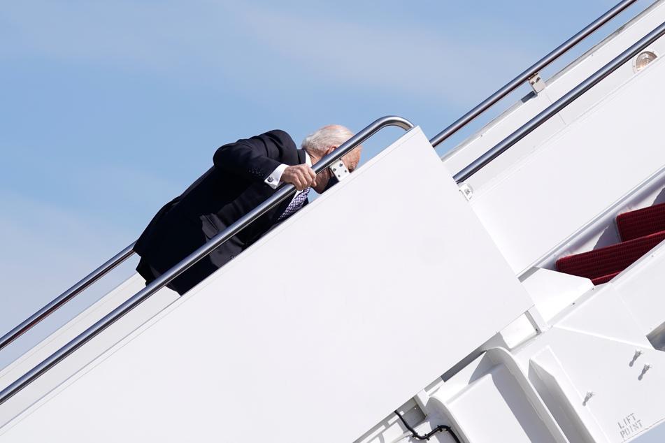 Joe Biden bei einem der Stürze.
