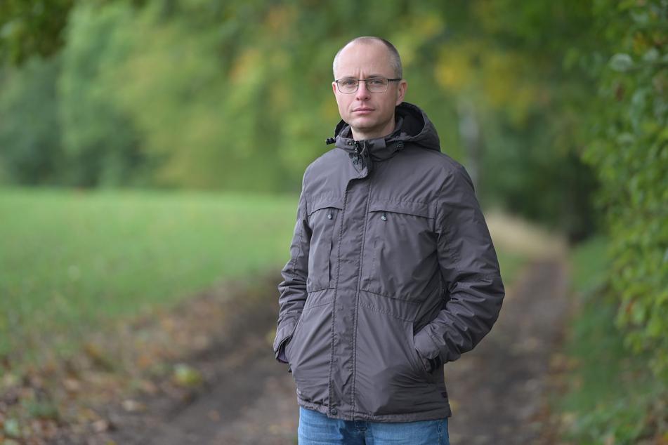 Der Chemnitzer Ivo Partschefeld (42) kämpft für offene Wege in ganz Sachsen.