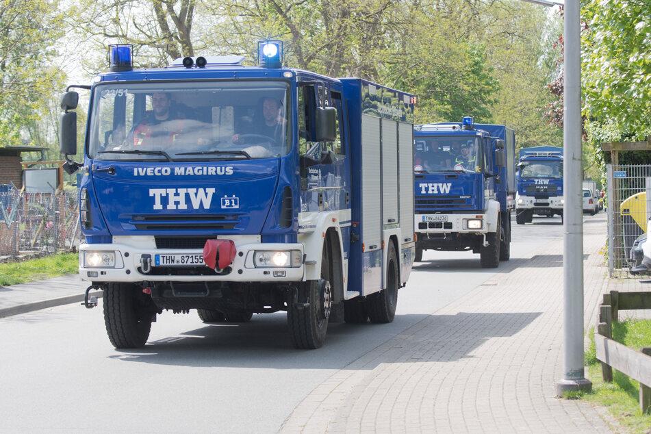 Über 300 Einsatzkräfte des Technischen Hilfswerks (THW) aus Niedersachsen und Bremen sind am Donnerstag in die vom Hochwasser getroffenen Katastrophenregionen ausgerückt.