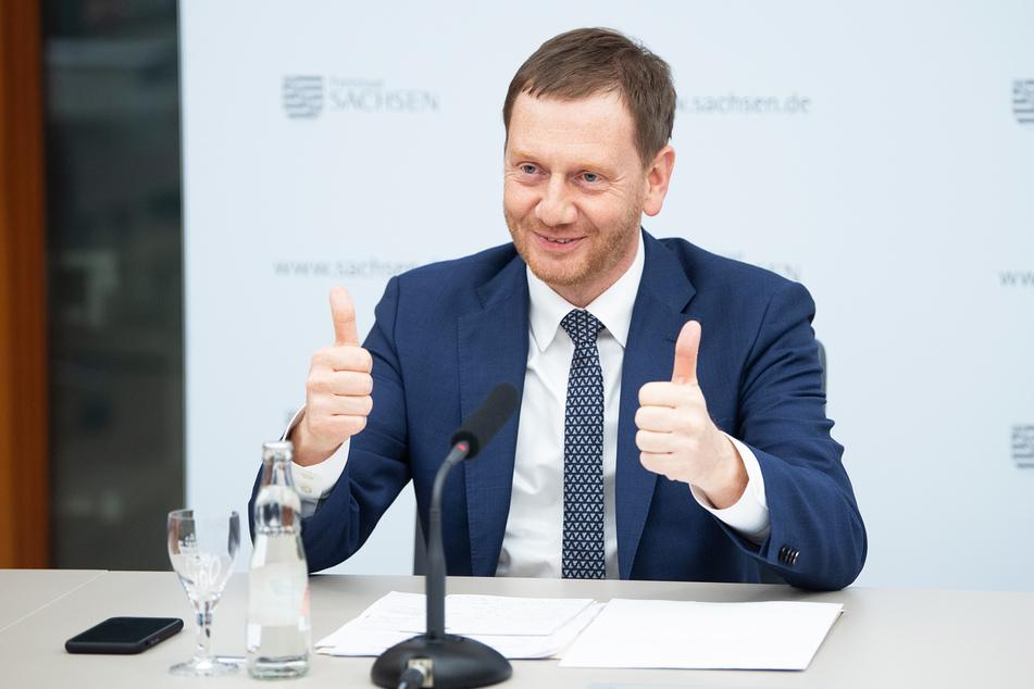 Michael Kretschmer (CDU), Ministerpräsident von Sachsen, will das Kontaktverbot in der Corona-Krise nun etwas lockern.