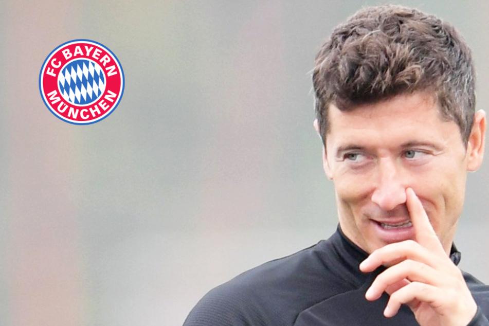 Leichtes Aufatmen beim FC Bayern München: Robert Lewandowski wieder auf dem Platz