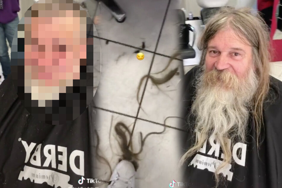 Obdachloser bekommt neuen Haarschnitt: Nun ist er nicht mehr wiederzuerkennen