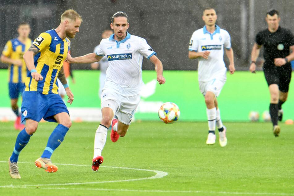 Zwei Mitglieder des SV Waldhof wurden positiv getestet. Beim Spiel gegen Eintracht Braunschweig war noch nichts bekannt. (Archivbild)