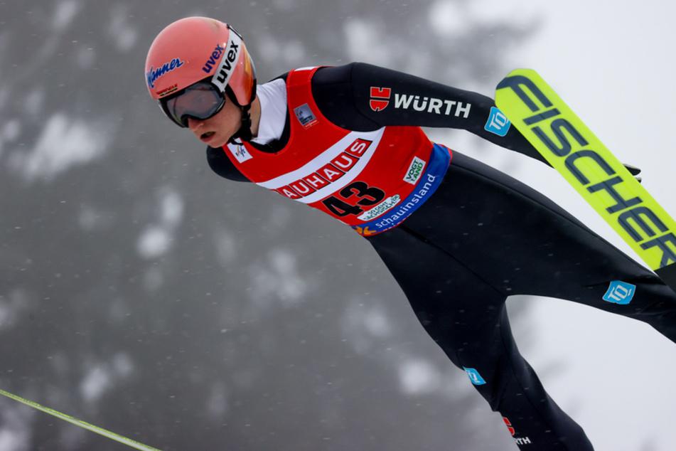 Sprang der Konkurrenz beim Heimspiel hinterher: der Tournee-Zweite Karl Geiger (27).