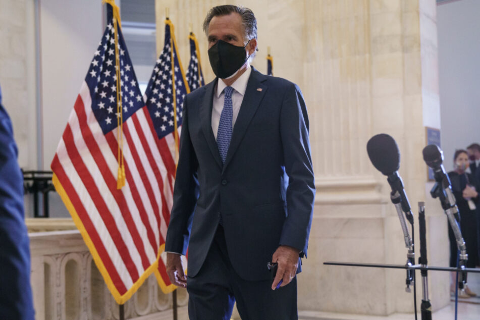 Mitt Romney, former Republican presidential candidate and current US Senator, at Capitol Hill.