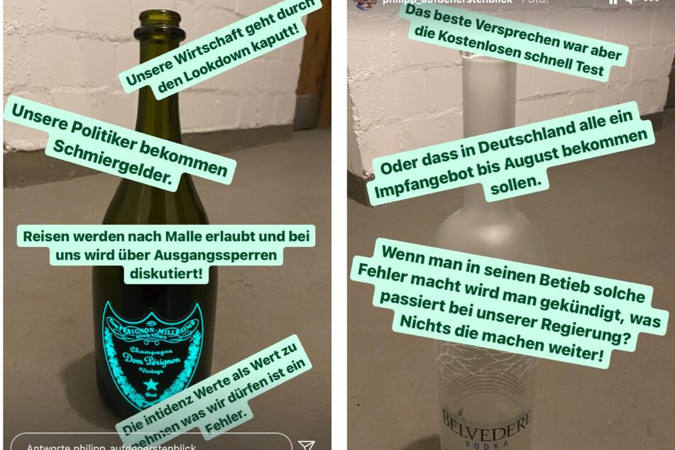 Philipp ätzte er auf Instagram über die geltenden Corona-Regeln.