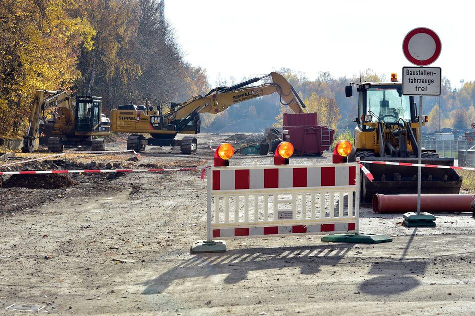 In der Olbernhauer Straße und Werner-Seelenbinder-Straße kommt es durch Bauarbeiten zu Lärm. (Archivbild)