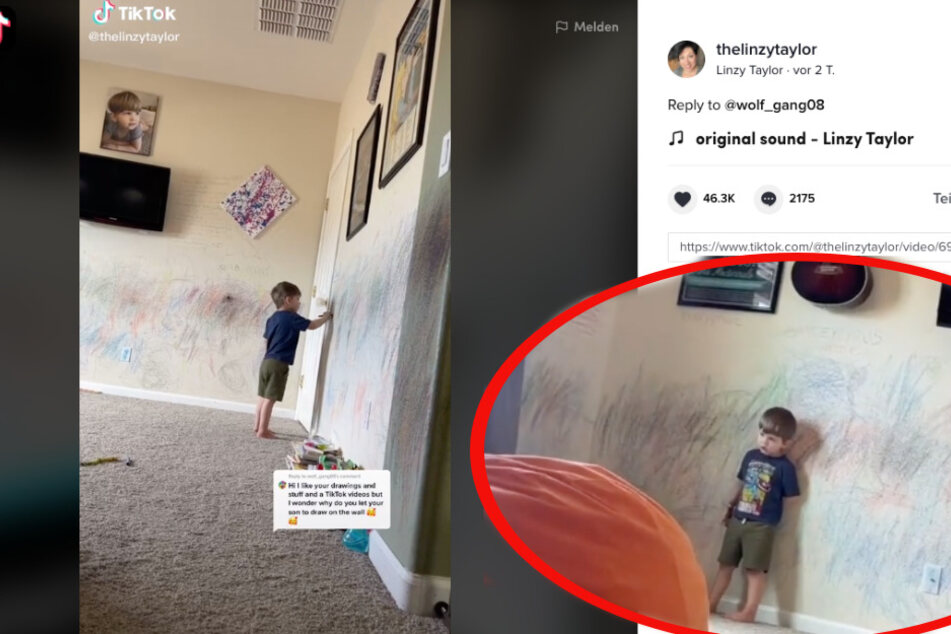 Mom encourages her autistic son to express himself through art – even if it makes a mess!