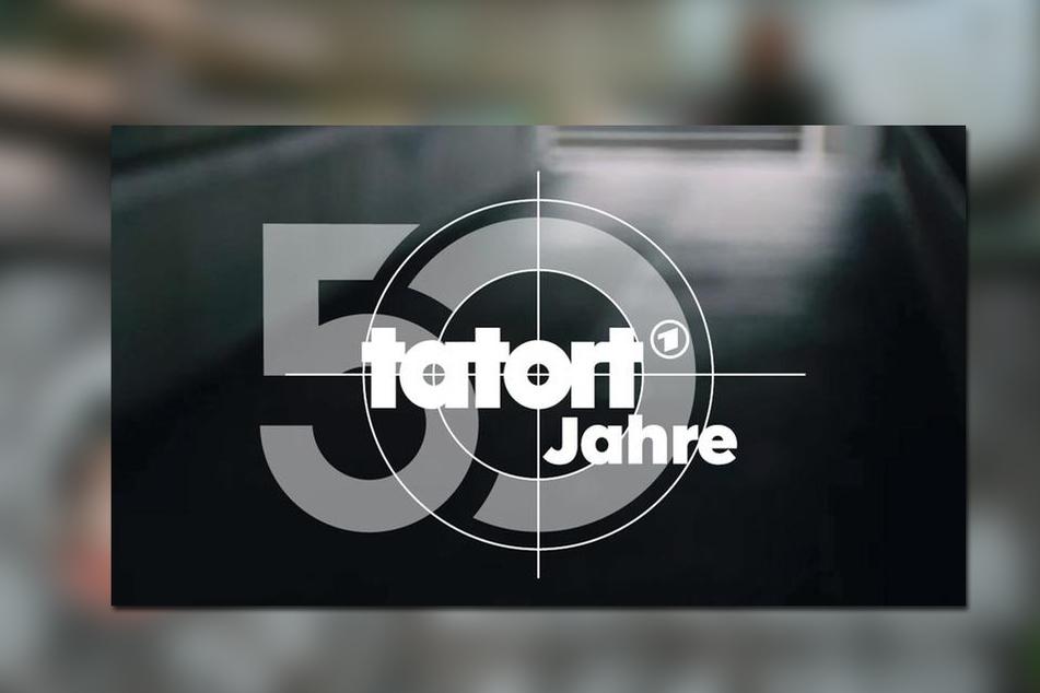 Dieses farblose Logo ehrt das 50. Jubiläum des Tatorts.