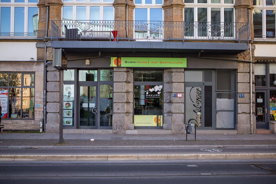 """Das Sushi-Lokal """"Sakura"""" in der Leipziger Südvorstadt - ob hier betrogen wurde, das ermittelt nun die Wirtschaftsabteilung der Staatsanwaltschaft."""
