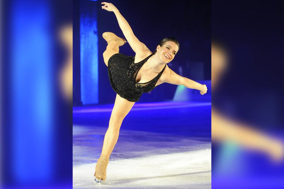 Auf dem Eis wurde sie einst zum Weltstar: Katarina Witt (55). Hier zu sehen während ihrer zweistündigen Abschiedsshow auf dem Eis.
