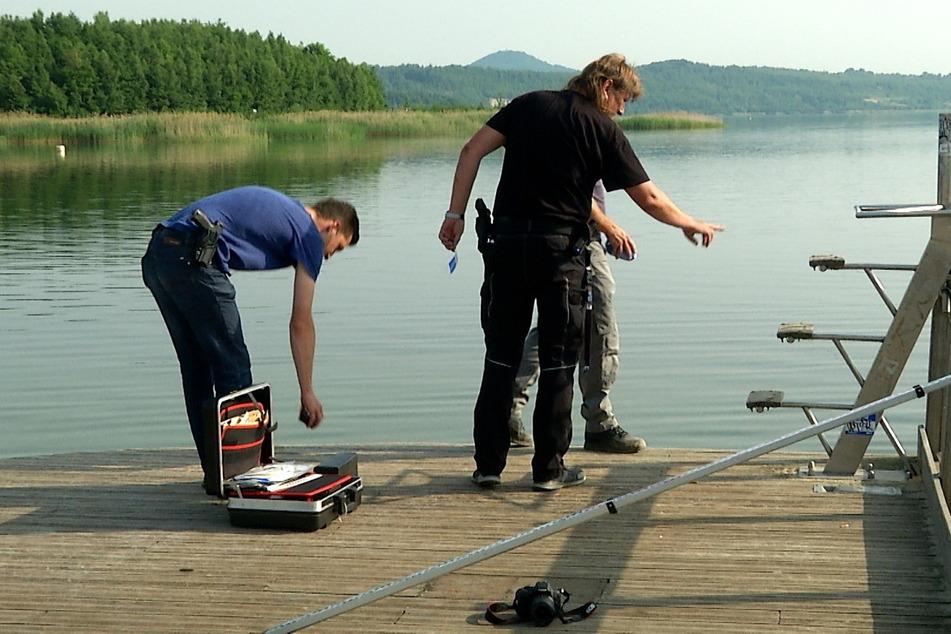 Nach dem Unfall am Berzdorfer See nahm die Kripo sofort die Ermittlungen auf.