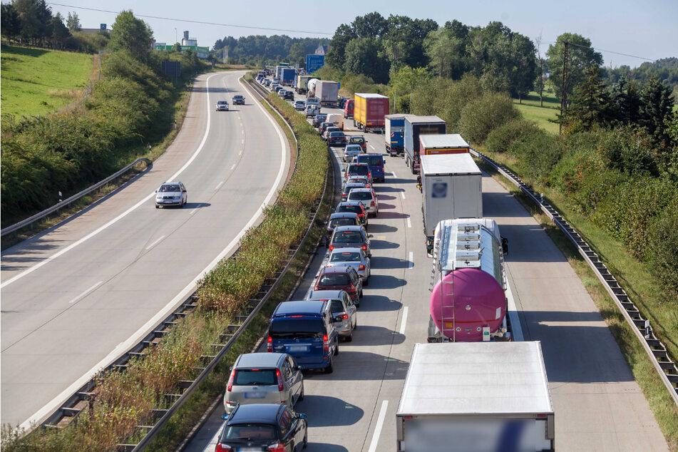 Ab dem 21. Juni wird die A72-Anschlussstelle Penig für mehrere Tage gesperrt. Autofahrer müssen mit Behinderungen rechnen. (Archivbild)