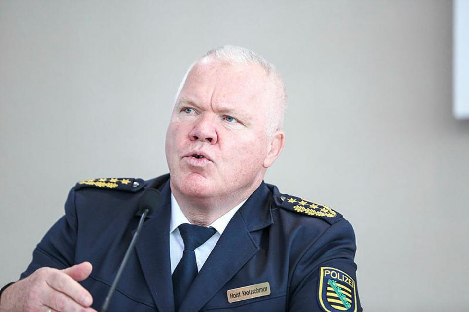 Hielt auch nichts von Transparenz: Landespolizeipräsident Horst Kretzschmar (60).