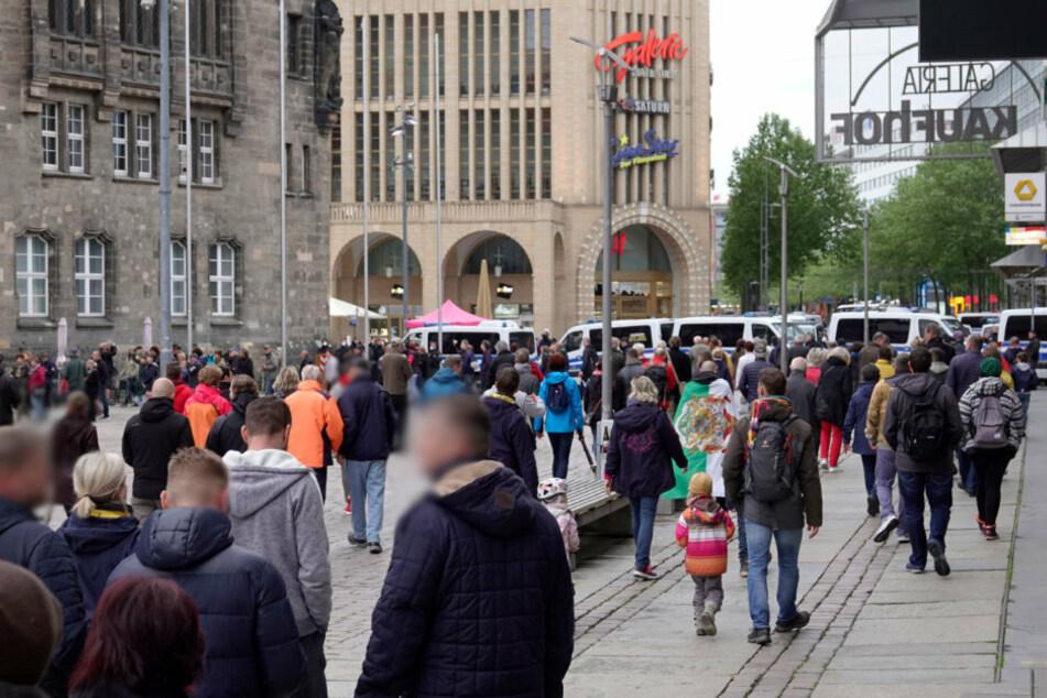 Am Montagabend gab es erneut zwei Demos in Chemnitz.