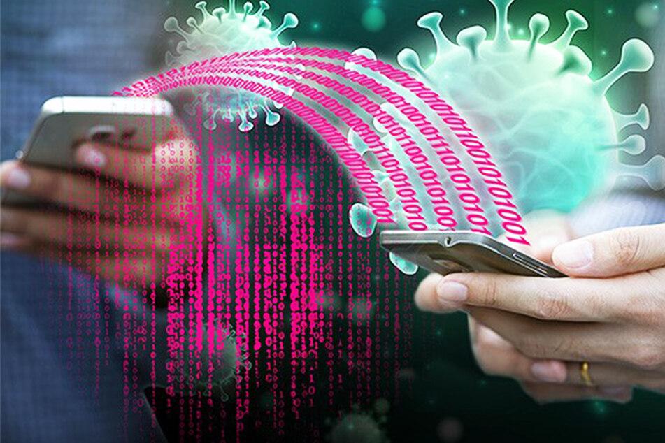 Sind Smartphones in der Nähe, registrieren die Geräte sich gegenseitig und speichern, wann sie sich begegnet sind.