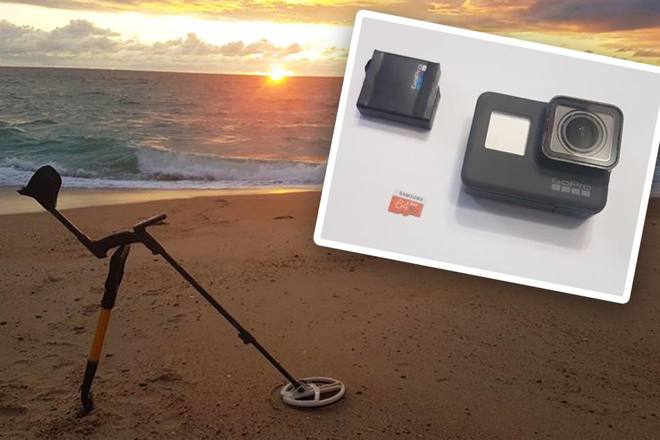 Am Strand von Soorts-Hossegor (Frankreich) fand Rémi die GoPro-Actionkamera.