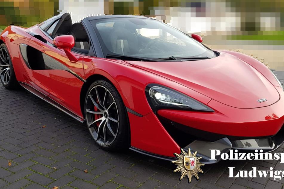 Die Polizei sucht diesen gestohlenen McLaren.