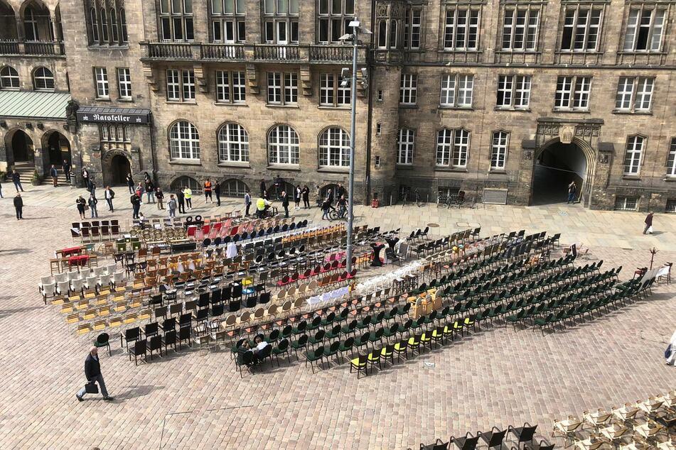 In Chemnitz sind mehr als 50 Gastronomen bei dem Protest dabei.