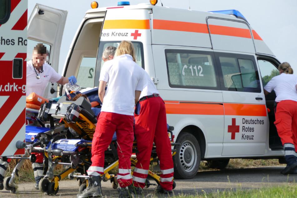 Zwei junge Männer bei Motorradunfall in Nordsachsen schwer verletzt