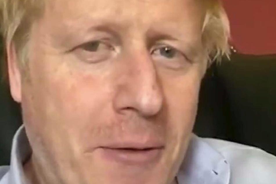 Der britische Premierminister Boris Johnson kurz bevor er ins Krankenhaus eingeliefert wurde.