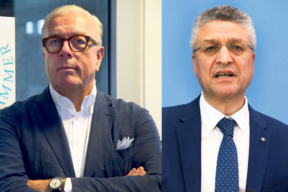 Bundesärztekammer-Präsident Klaus Reinhardt (61, l.), und RKI-Chef Lothar Wieler (60) raten wegen der gefährlichen Delta-Variante weiter zur Vorsicht.