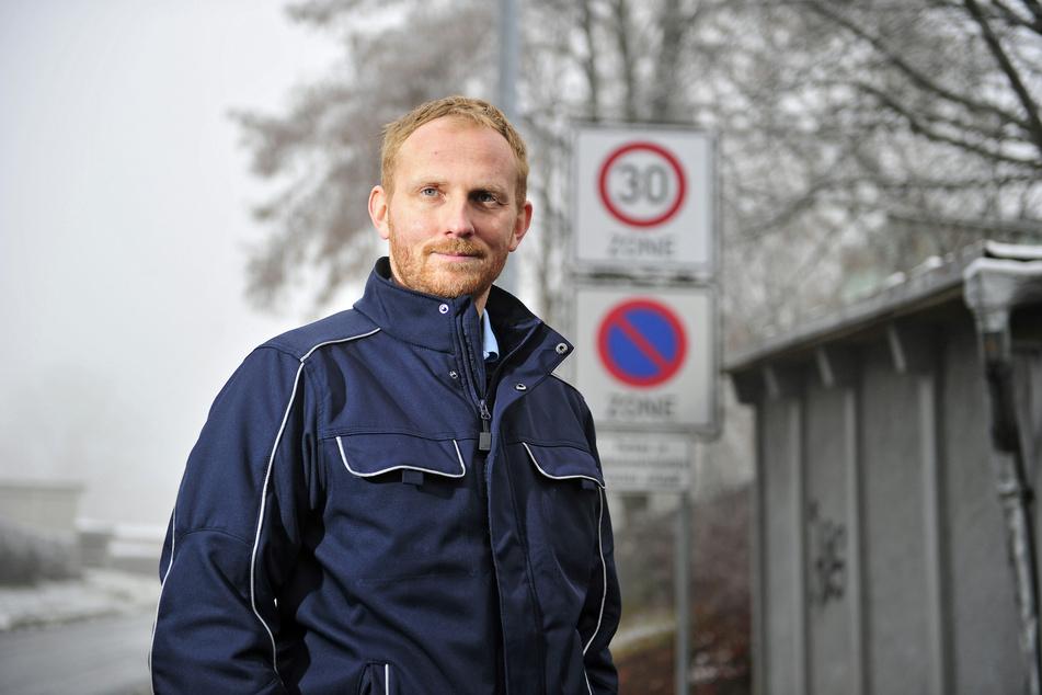 Als Ordnungsamtsleiter will der schnelle Martin Keller (34) jetzt die Autofahrer in Mittweida bremsen.