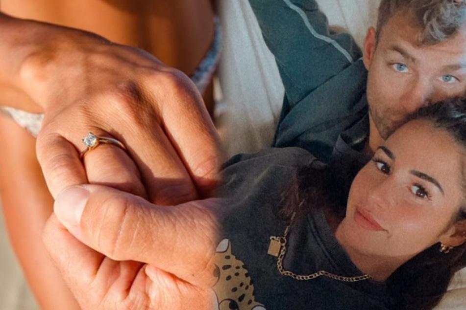 Sarah Lombardi (28) und Julian Büscher (27) sind frisch verlobt. (Fotomontage)