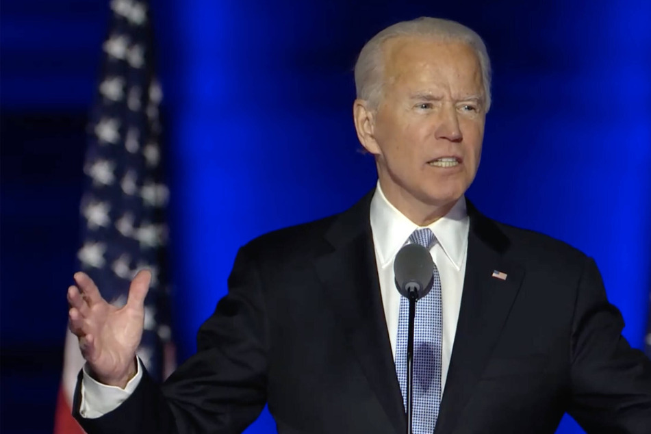 """We are not enemies. We are Americans"": Biden strikes conciliatory tone in victory speech"