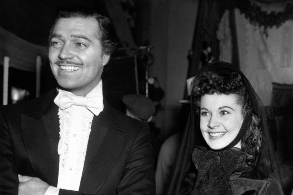 """17. März 1939: Clark Gable und Vivien Leigh sind in ihrer Rolle für ihren ersten Tag am Filmset zu """"Vom Winde verweht""""."""